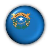 Round Button USA State Flag of Nevada stock illustration