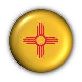 Round Button USA State Flag of New Mexico vector illustration