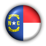 Round Button USA State Flag of North Carolina Royalty Free Stock Images
