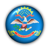 Round Button USA State Flag of North Dakota Royalty Free Stock Image