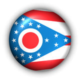 Round Button USA State Flag of Ohio Royalty Free Stock Image