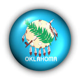 Round Button USA State Flag of Oklahoma Royalty Free Stock Image
