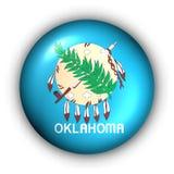 Round Button USA State Flag of Oklahoma Royalty Free Stock Image