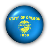Round Button USA State Flag of Oregon vector illustration