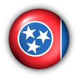 Round Button USA State Flag of Tennessee stock illustration