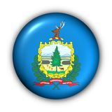 Round Button USA State Flag of Vermont Stock Photo
