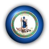 Round Button USA State Flag of Virginia stock illustration