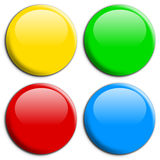 Round Buttons [2]. Four different round web buttons with shiny colors, isolated on white background royalty free illustration