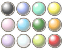 Round buttons Royalty Free Stock Images