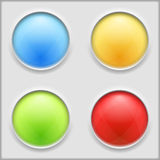 Round Buttons Stock Photography