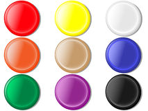 Round buttons. Vector illustration of round buttons Stock Photos