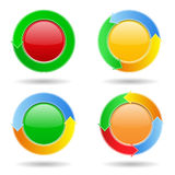 Round buttons with arrows. Set of round buttons with arrows Stock Photography