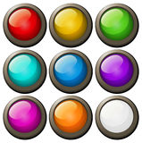 Round buttons in different colors. Illustration Stock Images
