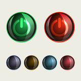 Round buttons, glass set royalty free illustration