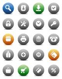 Round buttons for internet and shopping Royalty Free Stock Photos