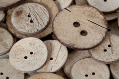 Round buttons. Large round buttons made of coconut Stock Image