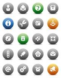 Round buttons miscellaneous Stock Image