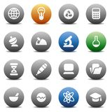 Round buttons for science Royalty Free Stock Image