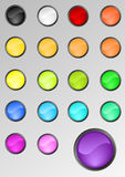 Round Buttons Set Royalty Free Stock Images