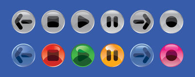 Round buttons Royalty Free Stock Photo