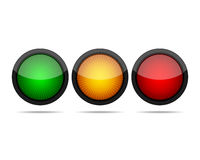 Round buttons. Vector illustration. Stock Photos