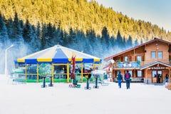 Round cafe at Bunderishka polyana, ski resort Stock Images