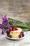 Round cake with fresh fruits Royalty Free Stock Image
