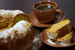 Round cake with sugar Royalty Free Stock Images