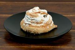 Round cake with white glaze Stock Image