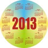 Round calendar 2013 Stock Images