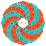 2015 round calendar Royalty Free Stock Photo