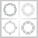 Round calligraphic frame, monogram Royalty Free Stock Images