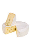 Round camembert cheese. Royalty Free Stock Images