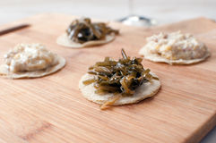 Round canapes with seaweed Royalty Free Stock Photo