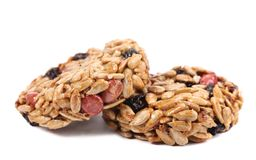 Round candied seeds and nuts. royalty free stock image