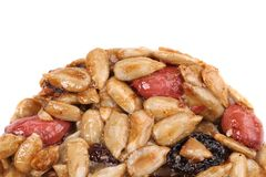 Round candied seeds and nuts. Royalty Free Stock Images
