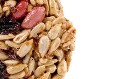 Round candied seeds and nuts. Stock Photo