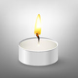 Round candle Royalty Free Stock Photo
