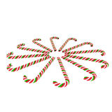 Round of candy canes. Candy canes round of candy canes Royalty Free Stock Images