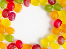 Round candy frame Royalty Free Stock Photography