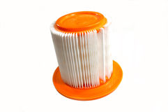 Round car air filter on white Royalty Free Stock Image