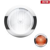 Round car headlight and turn indicator. Vintage Stock Photo