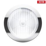Round car headlight. Vintage Vector Illustration. Stock Photo