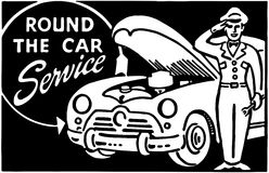 Round The Car Service 2 Royalty Free Stock Photo