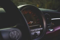 Round Car Speedometer Royalty Free Stock Photos