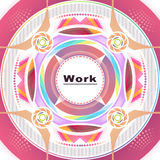 Round card. Card with a white circle in the center of attention in a futuristic style Royalty Free Stock Image