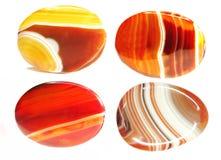 Round carnelian semigem minerals crystals