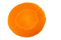 Round carrot slice on white Royalty Free Stock Image
