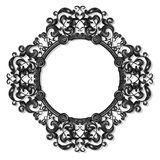 Round carved vintage frame for picture or photo Royalty Free Stock Images