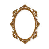 Round carved vintage frame for picture or photo Royalty Free Stock Image